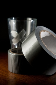 Duct Tape fixing pint glass